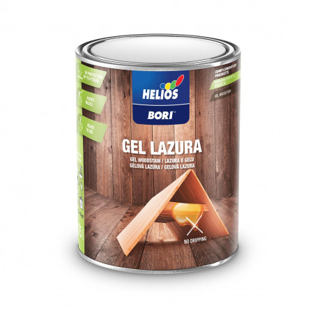 Гел Лазура защита и декорация на дървени повърхности Helios BORI