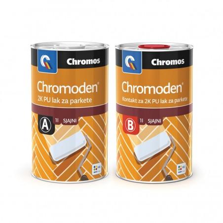 Chromos CHROMODEN 2K PU LZP - двукомпонентен полиуретанов лак за паркет на база разтворител с висок гланц