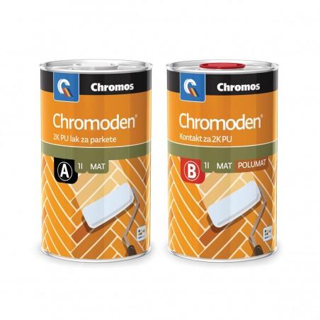 Chromos CHROMODEN 2K PU LZP - двукомпонентен полиуретанов лак за паркет на база разтворител с гланц мат